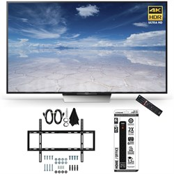 XBR-65X850D 65-Inch Class 4K HDR Ultra HD TV Slim Flat Wall Mount Bundle
