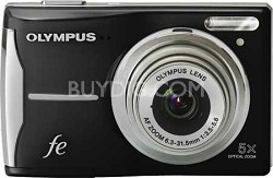FE-46 12MP Digital Camera w/ 5x Optical Zoom, 2.7 inch LCD Black Refurbished