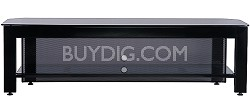 "SFV65b - Steel A/V Stand for TVs up to 65"" w/ 2 shelves (Hi-Gloss Black Finish)"