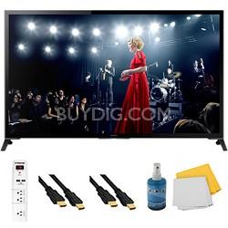 "65"" Flagship 4K UHD 3D Smart TV Motionflow XR 960 Plus Hook-Up Bundle XBR65X950B"
