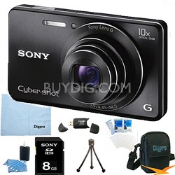 Cyber-shot DSC-W690 16MP 10X Zoom 720p Video Digital Camera (Black) 4GB Bundle