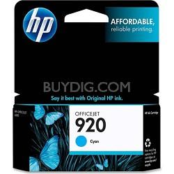 920 Cyan Officejet Ink Cartridge