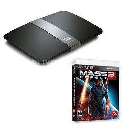 E4200 Maximum Performance Dual-Band N Router with Mass Effect 3 for PS3