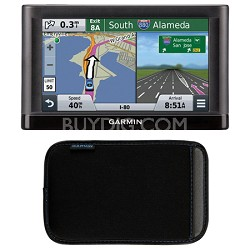 """nuvi 55 Essential Series GPS Navigation System with 5"""" Display Case Bundle"""