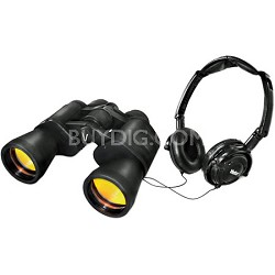 VIV-LD-1050 10 x 50 Look & Listen Sight/Sound Weather Resistant Binoculars