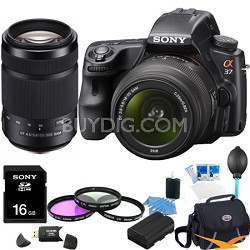 Alpha SLT-A37K 16.1 MP Digital SLR Kit w/ 18-55mm and 55-300 Zoom Lens