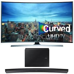UN55JU7500 - 55-Inch 2160p 3D Curved 4K UHD Smart TV w/ HW-J6500 Soundbar Bundle