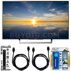 "XBR-49X800D - 49"" Class 4K HDR Ultra HD TV w/ Essential Accessory Bundle"
