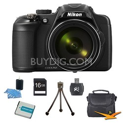 COOLPIX P600 16.1MP 60X Zoom Digital Camera Black Kit