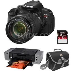 EOS Rebel T4i 18MP SLR Camera 18-135mm STM Lens Kit Vari-Angle Touchscreen
