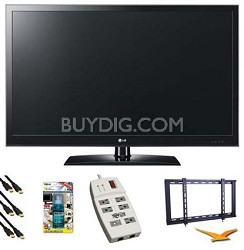 37LV3500 - 37 Inch 1080p LED TV w Mount, Surge Protector, HDMI, TV Cleaner