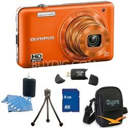 8 GB Kit VG-160 14MP 5x Opt Zoom Orange Digital Camera - Orange