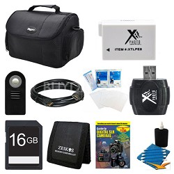 16GB SD Card, Case, Battery, Shutter Release, USB Card Reader, and More