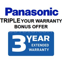 Panasonic Extended Three Year Warranty (See Form for Details)