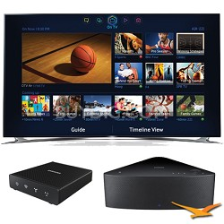 "UN55F8000 - 55"" 1080p 240hz 3D Smart LED HDTV with SHAPE Audio Bundle - Black"