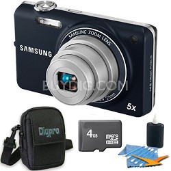 ST65 14.2 MP Indigo Blue Compact Digital Camera 4 GB Bundle