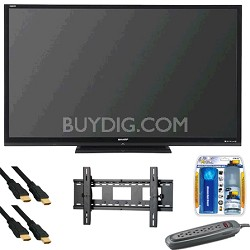 AQUOS 80 inch LE844 Series 3D LED Black Flat Panel HDTV - LC-80LE844U