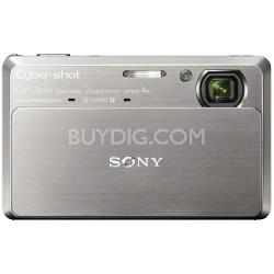 """Cyber-shot DSC-TX7 10.2 MP Digital Camera w/ 3.5"""" Touch LCD (Silver) - OPEN BOX"""