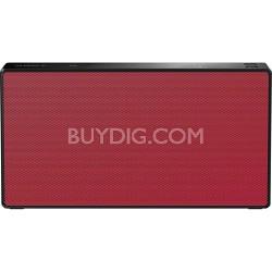 SRSX5 Portable NFC Bluetooth Wireless Speaker System - Red
