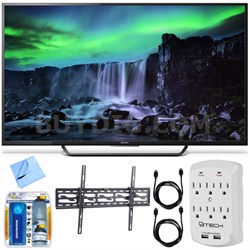 XBR-65X810C - 65-Inch 4K Ultra HD 120Hz Android Smart LED TV Tilt Mount Bundle