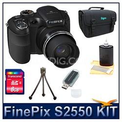 FinePix S2550 + 8GB Card + Card Reader + Case + Mini Tripod and More