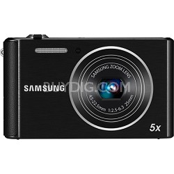 ST76 16MP 5X Optical Zoom Compact Digital Camera - Black - OPEN BOX