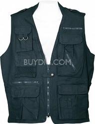 Safari Vest - Black, Large
