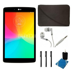 "G Pad V 480 16GB 8.0"" WiFi White Tablet and Case Bundle"