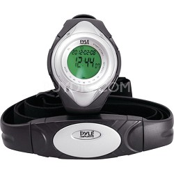 PHRM38SL Heart Rate Monitor Watch with 3D Walking/Running - Silver