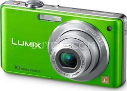 DMC-FS7G LUMIX 10.1 MP Compact Digital Camera w/ 4x Optical Zoom (Green)