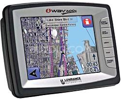 iWAY 600C Street & Marine Ready Portable GPS navigator w/ Satellite Imagery