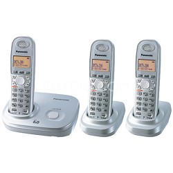 KX-TG6313S DECT 6.0 Expandable Digital Cordless Phone with 3 Handsets
