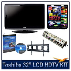 "32C100U 32"" 720p LCD HDTV + Flat Mount, Hook-Up, Power Protection, & Calibration"