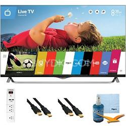 55 Inch 4K Ultra HD 120Hz 3D Smart LED TV Plus Hook-Up Bundle (55UB8500)