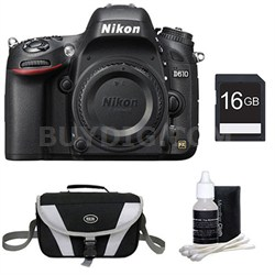 D610 FX-format 24.3 MP 1080p video Digital SLR Camera Body Only Kit