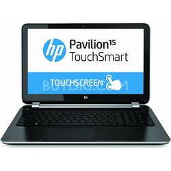"""Pavilion TouchSmart 15.6"""" 15-n260us Notebook - AMD Elite Quad-Core A8-5545M Proc"""