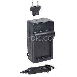AC/DC Rapid battery charger for Panasonic VBN 130-260