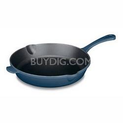 "CI22-24BG - Chef's Classic Enameled Cast Iron 10"" Round Fry Pan, Provencal Blue"