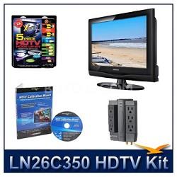 LN26C350 - HDTV + High-performance Hook-up Kit + Power Protection + Calibration