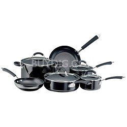10569 Millennium Colors 12-Piece Non-Stick Cookware Set, Black