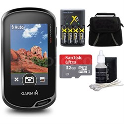 Oregon 750 Handheld GPS with Built-In Wi-Fi, Camera & Bluetooth 32GB MicroSD Kit