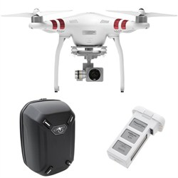 Phantom 3 Standard Quadcopter Drone w/ DJI Hardshell BackPack And Battery