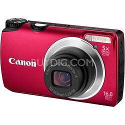 PowerShot A3300 IS 16MP Red Digital Camera w/ 720p HD Video