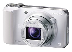 Cyber-shot DSC-HX10V (White) 18.2 MP 16x Zoom 3D Sweep HD Video with Geotagging