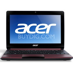 "Aspire One AOD270-1835 10.1"" Netbook PC (Red) - Intel Atom Proc. Dual-Core N2600"