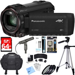 HC-VX981K 4K Ultra HD Camcorder Black Essential Accessory Bundle
