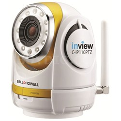 InView HD 1280x720p H.264 Wireless Wi-Fi Pan Tilt Zoom IP Camera - OPEN BOX