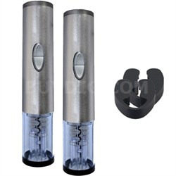 2 Electric Wine Bottle Openers with Foil Cutters Bundle