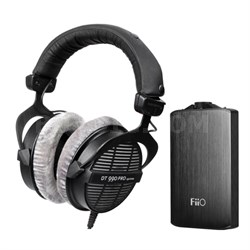 DT990 Professional Acoustically Open Headphones 250 Ohms w/ FiiO A3 Amp