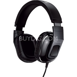Over-the-Ear StreetBand Monitor Headphones w/ Remote & Mic - Glossy Black